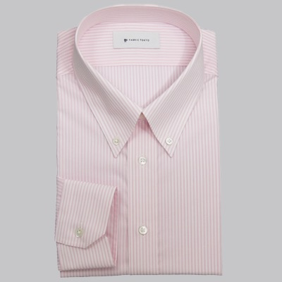 Pink button-down shirt by Fabric Tokyo