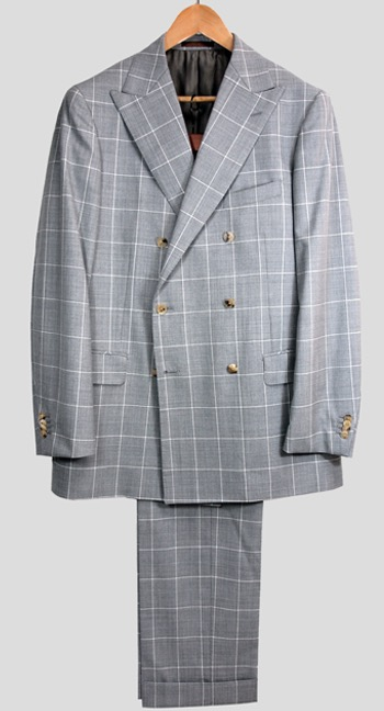 Double-breasted suit jacket by Universal Language