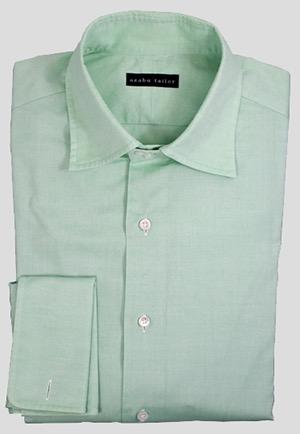 Green shirt by Azabu Tailor