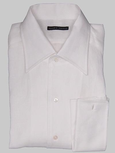 White linen shirt by Azabu Tailor
