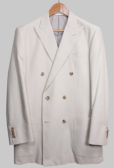 Azabu Tailor off-white double-breasted jacket
