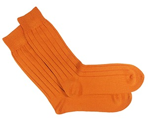 Orange socks by Tabio